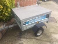 4x3 Galvanised Tipping Trailer + cover