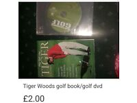 Golf dvd and tiger woods book