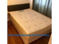 Double mattress and divan base