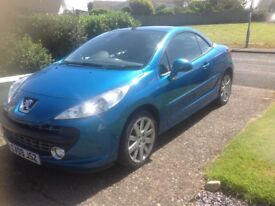 Peugeot 207cc excellent condition. Full MOT and service history