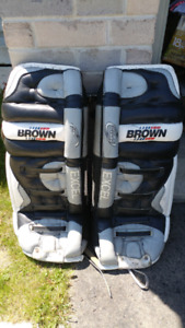 For Sale: Brown Excel Goalie Pads, Great shape!