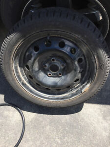 Nitto Winter Tires and Rims - Like New!! 225/45 R17