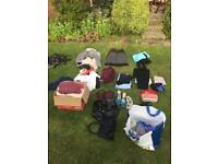 70 items of clothing, lap top bag