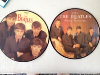 Beatles singles two music picture discs