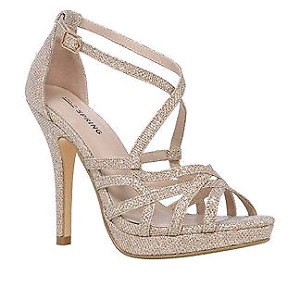 Brand New Glittery Gold Heels From Spring