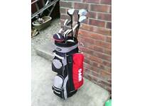 Full set golf clubs with red hippo bag