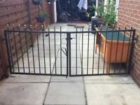 3ft Tall Black Wrought Iron Driveway Gates
