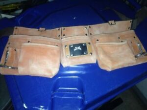 Leather Tool Belt Comme neuf, like new ceinture à outils