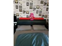 Kingsize red and black bed