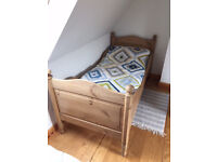 Antique pine Victorian trundle bed