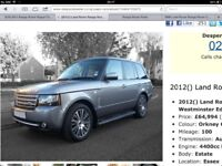 "RANGE ROVER L322 AUTOBIOGRAPHY ULTIMATE EDITION 20"" ALLOY WHEEL LR031437 Set 4"