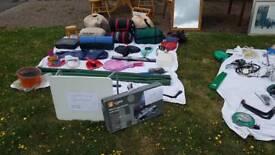 Various camping equipment.