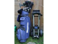 Golf clubs bag and Trolly great for beginner