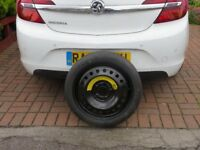 """GENUINE NEW VAUXHALL INSIGNIA 17"""" SPACE SAVER WHEEL AND TYRE .NEVER USED .WILL FIT A 18"""" WHEEL"""