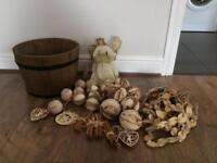 Christmas Decorations Wooden. £20.