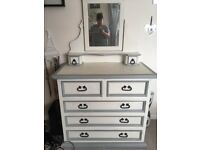 Beautiful refurbished dressing table/chest of drawers!