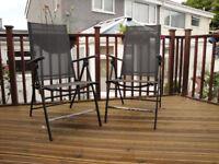 Set of 4 Garden / patio folding chairs.