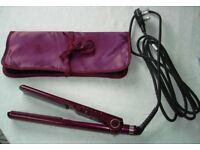BABYLISS ELEGANCE HAIR-STRAIGHTENER - BERRY COLOUR - MODEL 2198KU - UNUSED CONDITION