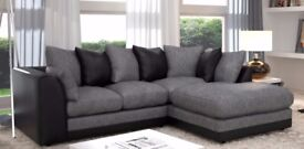 CHEAPEST PRICE EVER! BRAND NEW JUMBO CORD BYRON CORNER / 3+2 SOFA SET