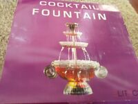 Cocktail drinks fountain