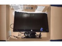 desktop pc new HP MONITOR 20 inch KEYBOARD MOUSE FULL HD WEBCAM