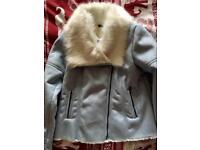 Size 14 pale blue coat