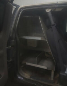 Aluminum Shelves with inverter and electric connection for truck