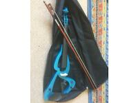 Electric violin and bow with case