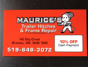 Maurice's Trailer Hitches & Frame Repair