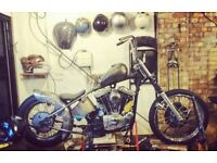 Harley ironhead 1975 chopper bobber project custom Harley Davidson