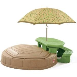 Step 2 Sandbox with picnic table and umbrella