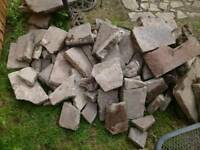 Broken slabs - free - ideal for hardstanding etc