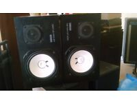 Pair of Yamaha NS10-M monitor speakers