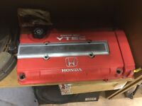 Honda B16 B18 B Series Wrinkle Red Rocker Cover