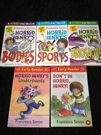 Horrid Henry books x 5