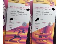 World Athletics tickets - 5th August morning session