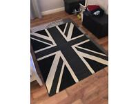 Union Jack rug and pouffe set - collection ruddington