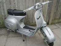 Vespa Sprint style 1960s scooter (low millage, mint condition)