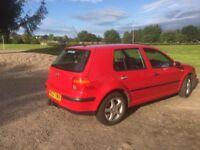 2002 VW Golf SE, tdi, 105bhp (Red)