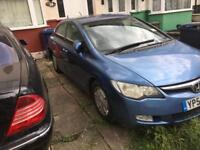 HONDA CIVIC 1.4L IMA HYBRID CVT ES LEATHER AUTOMATIC 4 DOOR (IF NEED ANY PARTS THIS CAR ASK ME)