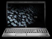 Black HP pavilion dv7 laptop for sale