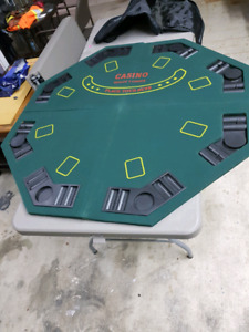 Poker table/black Jack table and chips