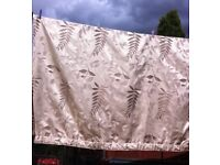 MONTGOMERY GOLD FULLY LINED CURTAINS WITH BROWN & GOLD LEAF (216 wide x 137 drop)