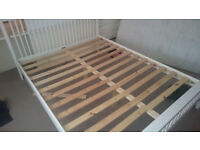 King size wooden bed, frame only