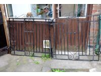 Wrought Iron Gates - 7ft 5inch (226cm) wide