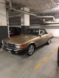 1984 Mercedes sl380 roadster formerly owned by Donald s. Cherry