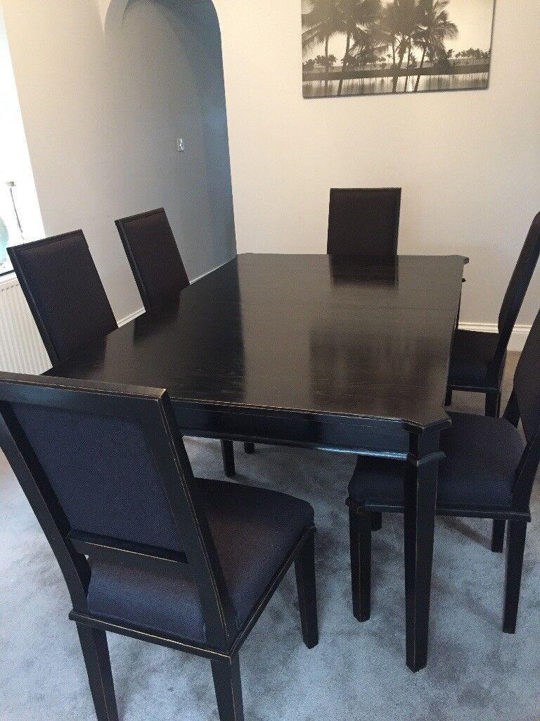Laura Ashley Henshaw Range Black Dining Table