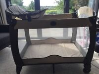 Grace Electra Travel Cot with Bassient, changing mat & music
