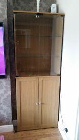 Light oak effect cabinet