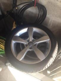 4 x Genuine Audi alloys with winter tyres